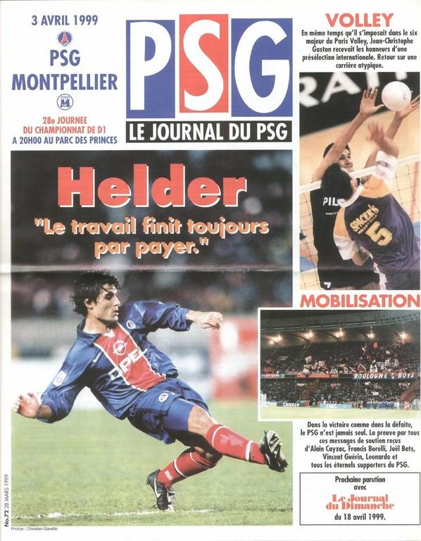1999-04-03  PSG-Montpellier (28ème D1, Le Journal du PSG N°72)