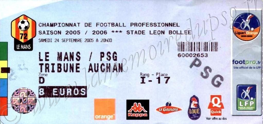 2005-09-24  Le Mans-PSG (9ème L1)