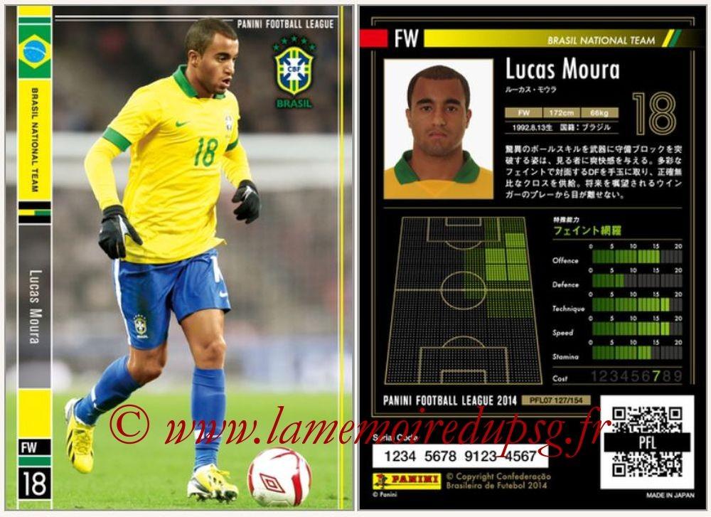 N° 127 - Lucas MOURA (Janv 2013-??, PSG > 2014, Brésil)