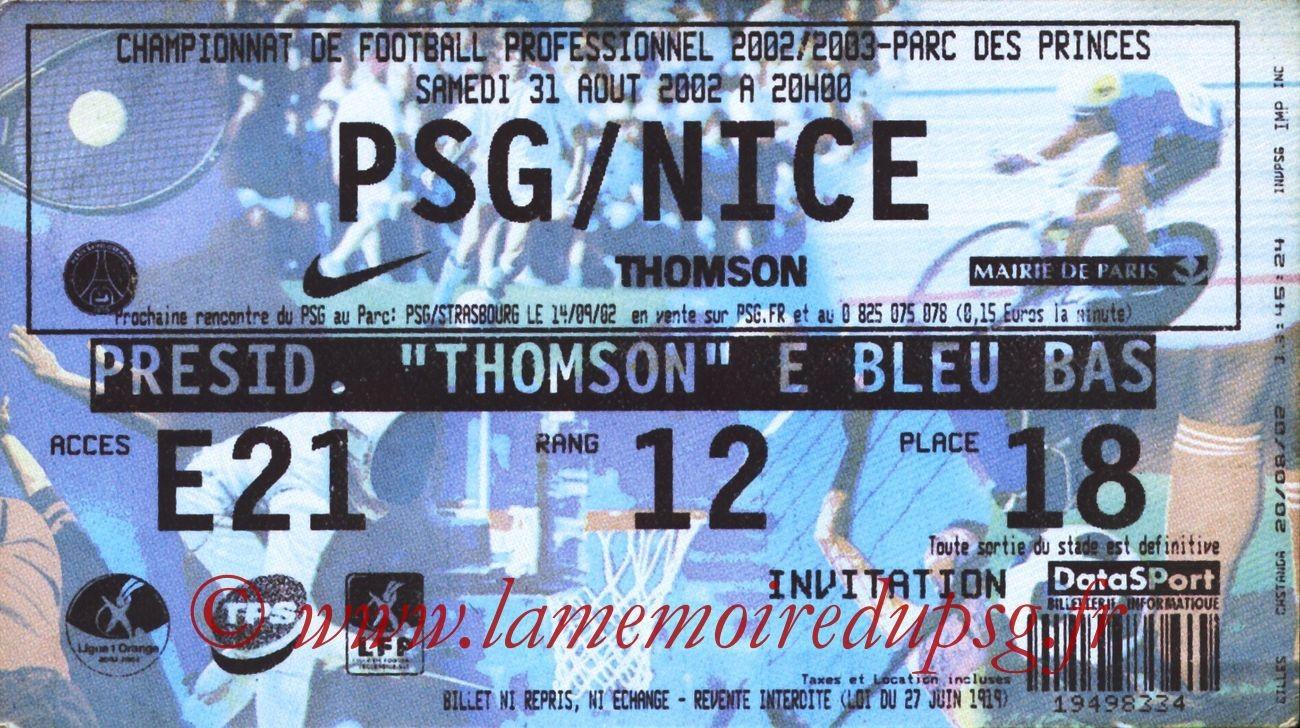 2002-08-31  PSG-Nice (5ème L1)