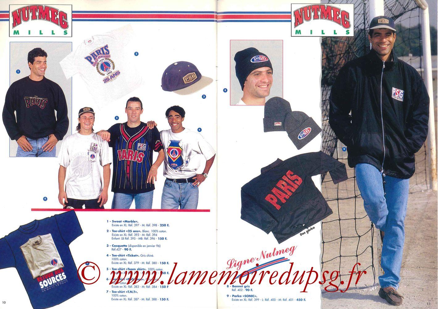 Catalogue PSG - 1995-96 - Pages 10 et 11