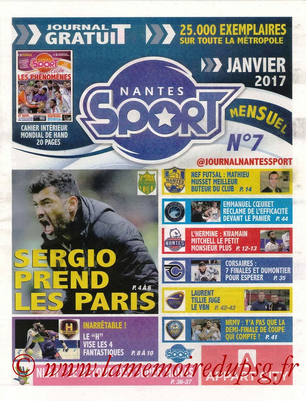 2017-01-21  Nantes-PSG (21ème L1, Nantes Sport N° 7)