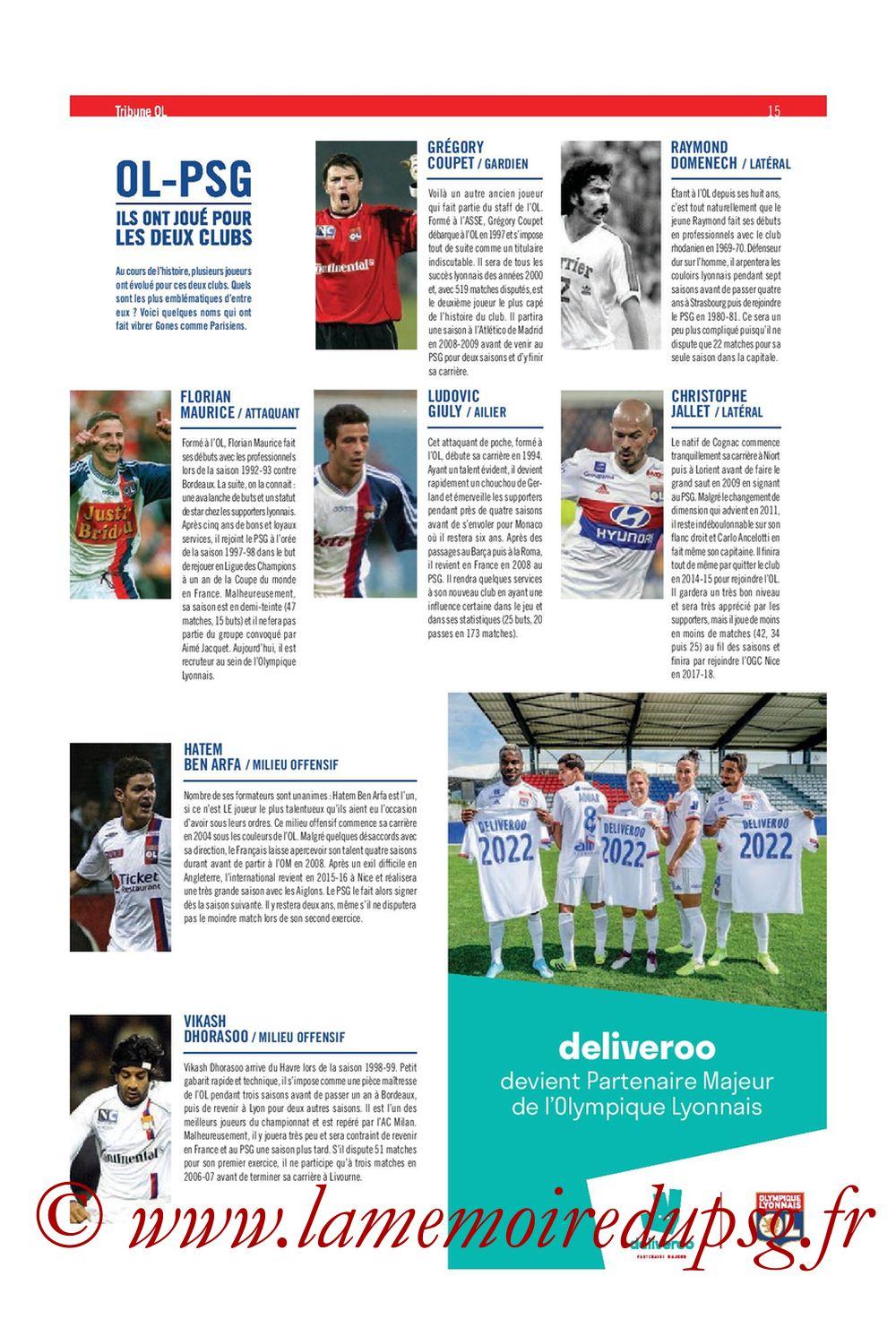 2019-09-22  Lyon-PSG (6ème L1, Tribune OL N°284) - Page 15