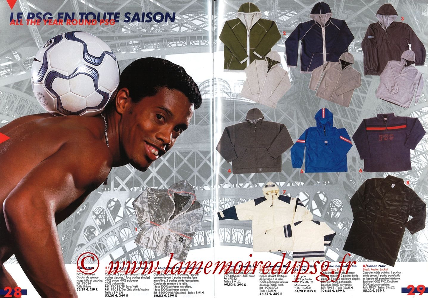 Catalogue PSG - 2001-02 - Pages 28 et 29