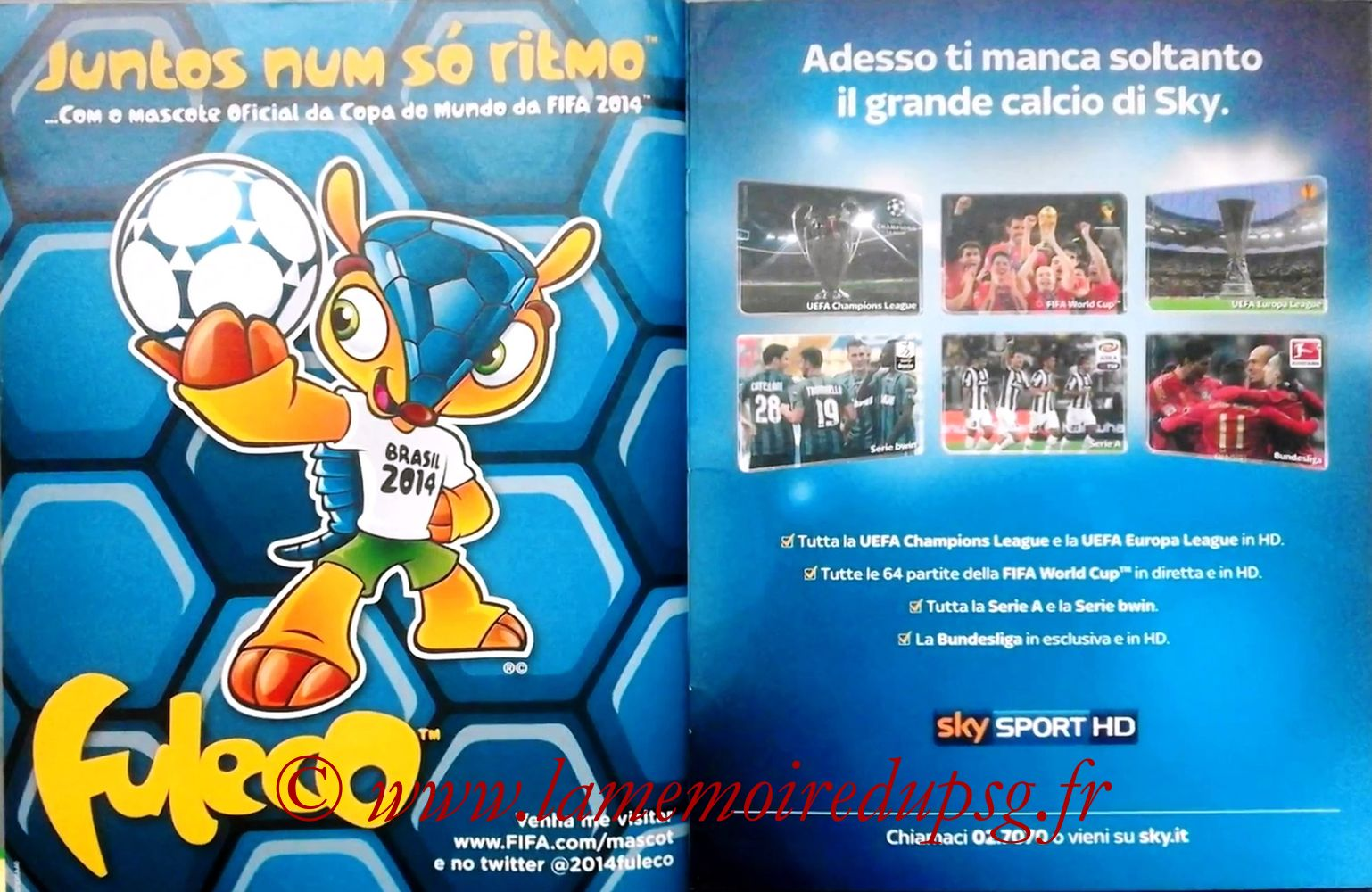 2013 - Panini Confederations Cup Brasil Stickers - Pages 40 et 41