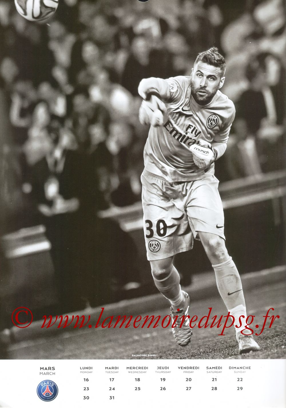 Calendrier PSG 2015 - Page 06 - Salvatore SIRIGU