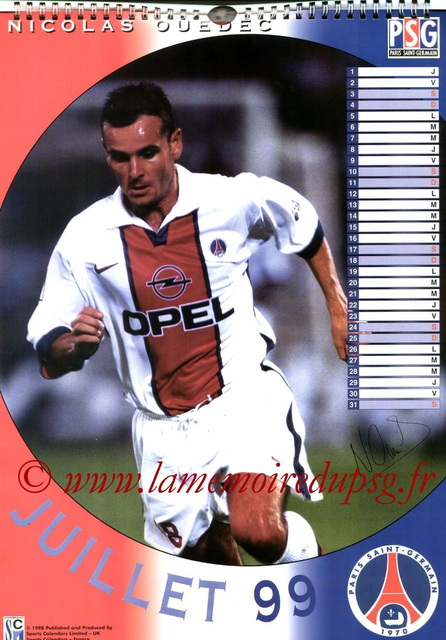 Calendrier PSG 1999 - Page 07 - Nicolas OUEDEC