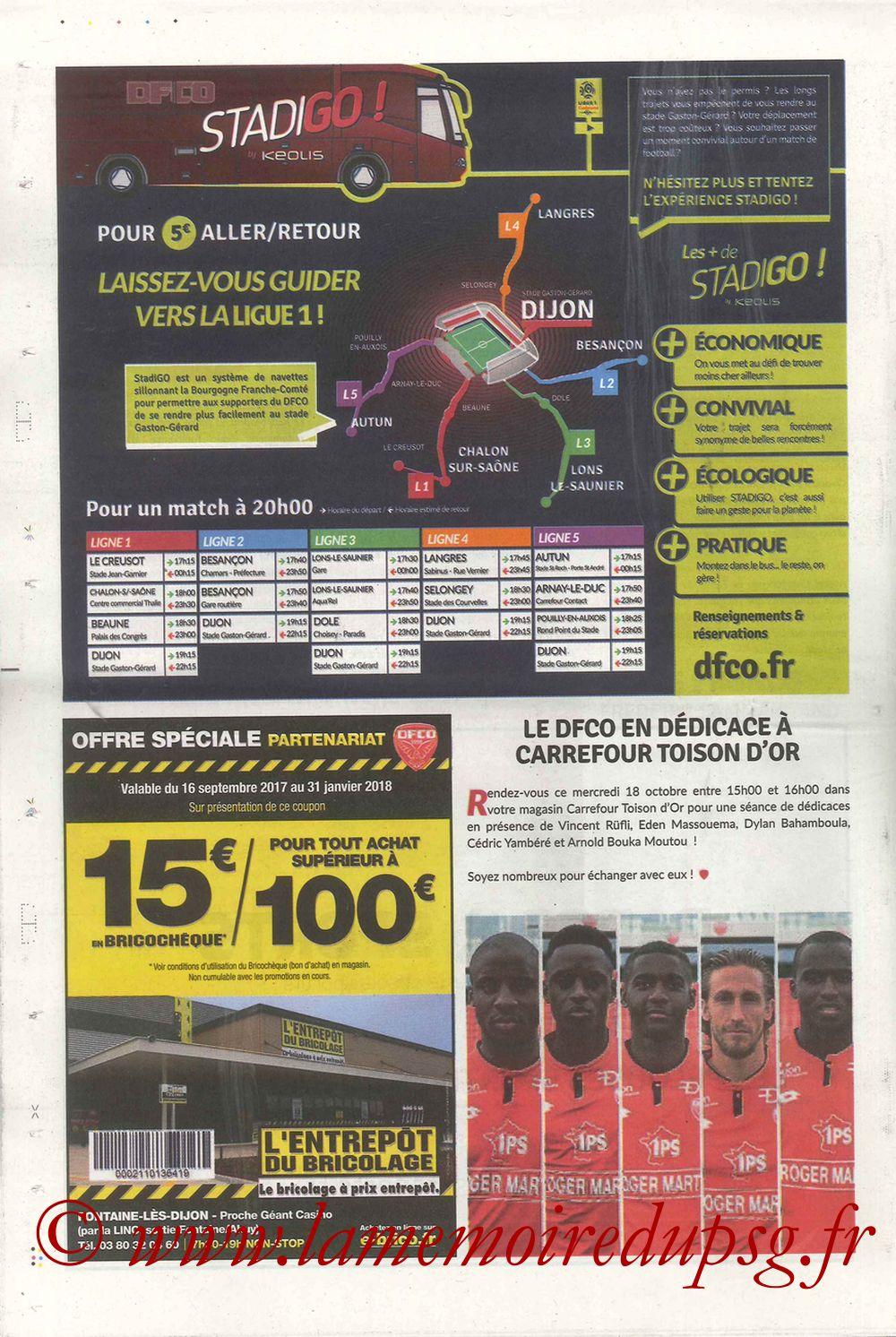 2017-10-14  Dijon-PSG (9ème L1, Chouett'Infos N°5) - Page 12