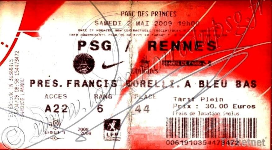 2009-05-03  PSG-Rennes (34ème L1, Ticketnet)