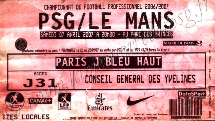 2007-04-07  PSG-Le Mans (31ème L1, ter)