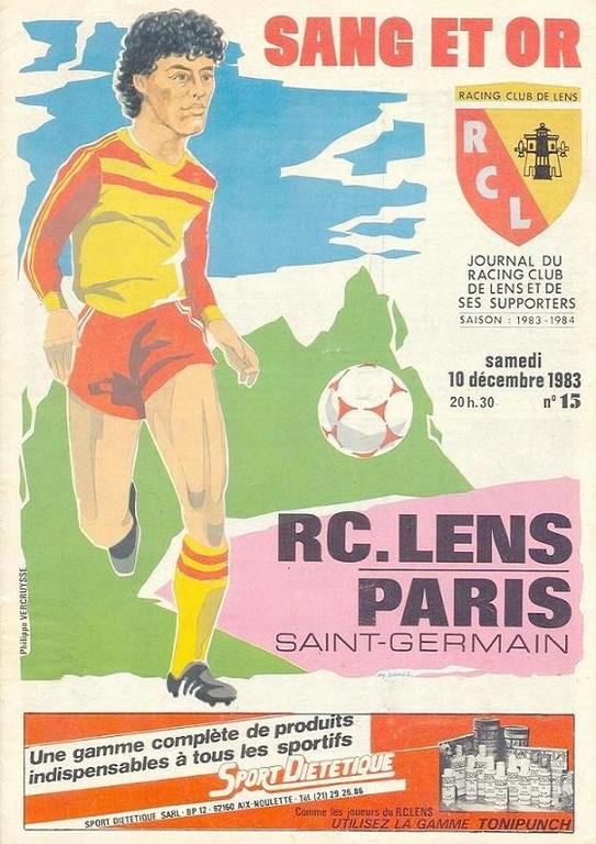 1983-12-10  Lens-PSG (22ème D1, Sang et Or N°15)
