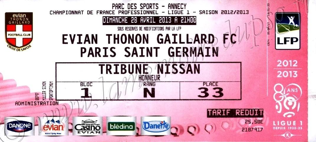 2013-04-28  Evian-PSG (34ème L1)