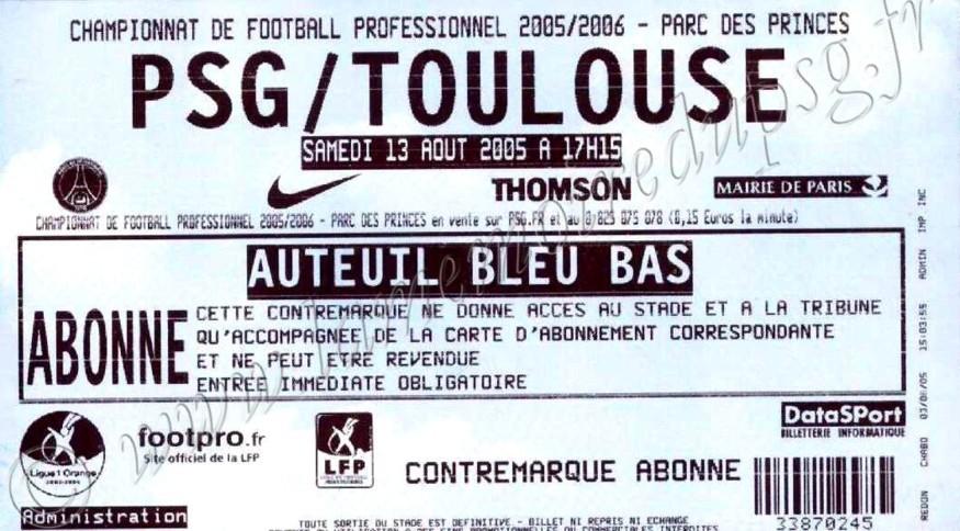 2005-08-13  PSG-Toulouse (3ème L1)