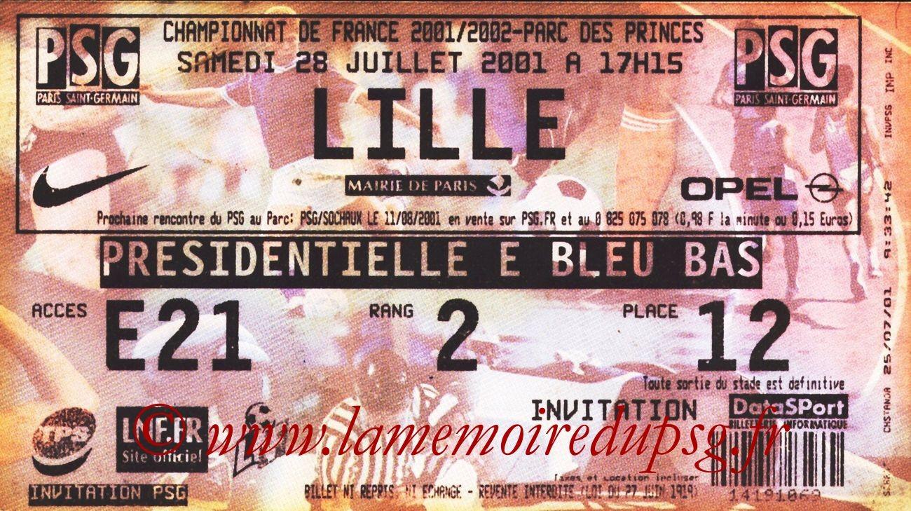 2001-07-28  PSG-Lille (1ère D1)