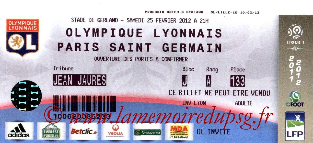 2012-02-25  Lyon-PSG (25ème L1)