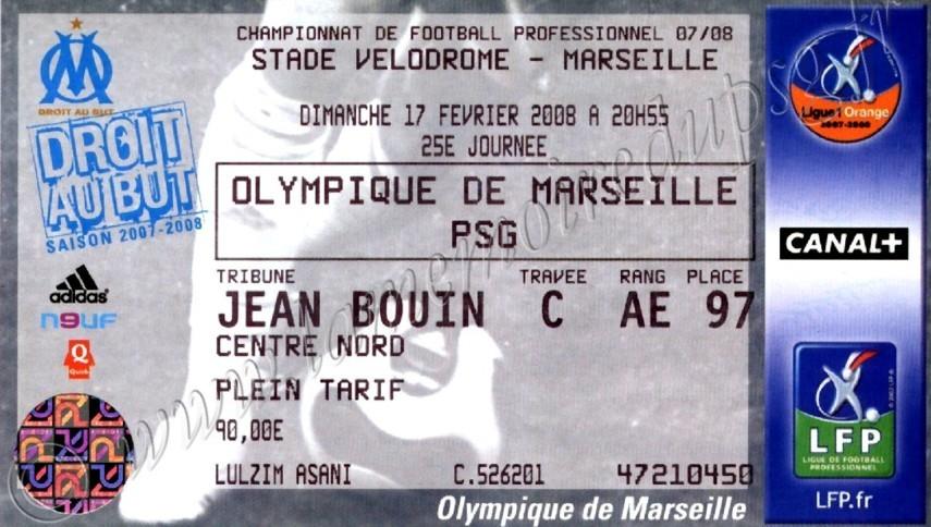 2008-02-17  Marseille-PSG (25ème L1)