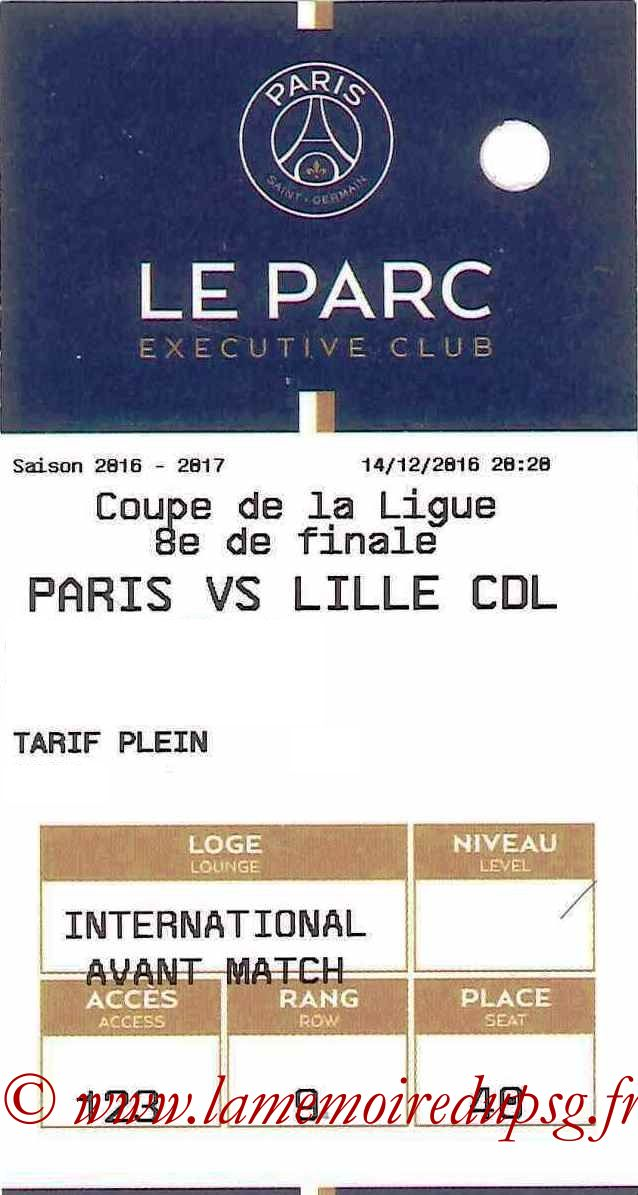 2016-12-14  PSG-Lille (8ème CL, E-ticket Executive club)