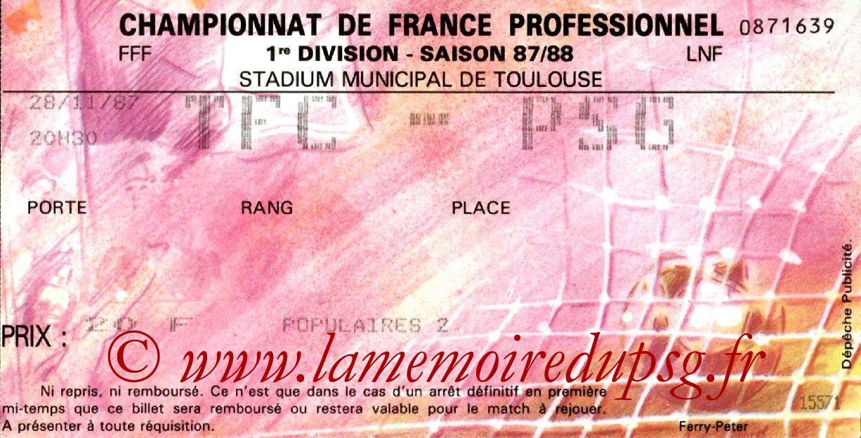 1987-11-28  Toulouse-PSG (21ème L1)