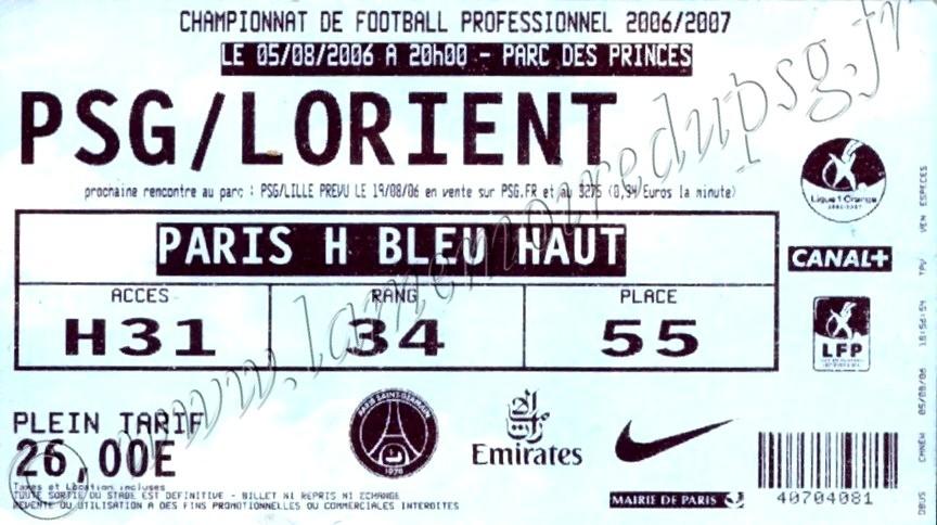 2006-08-05  PSG-Lorient (1ère L, bis)
