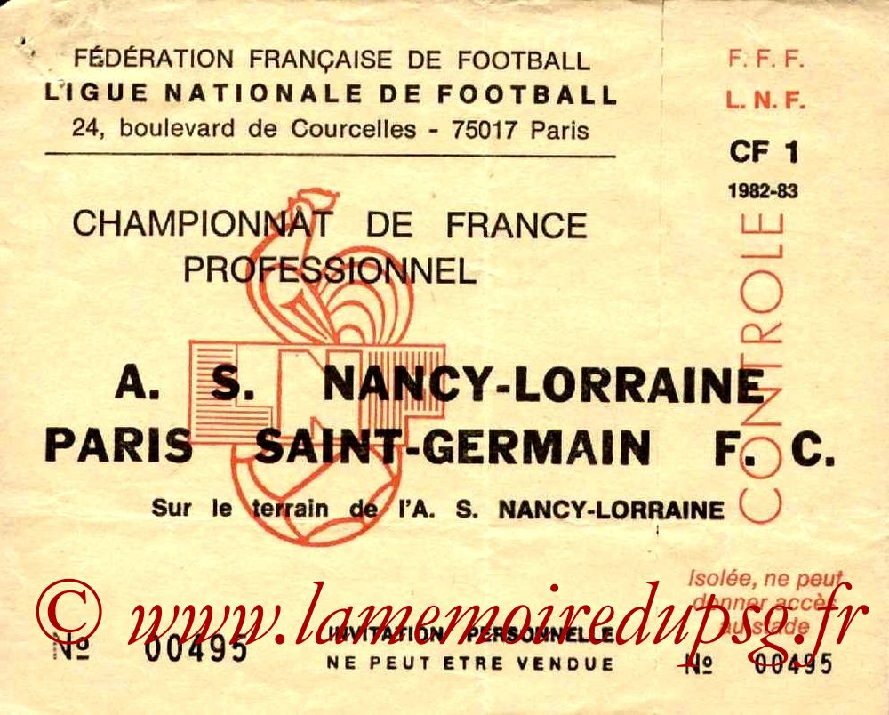 1983-01-15  Nancy-PSG (21ème D1, Invitation)