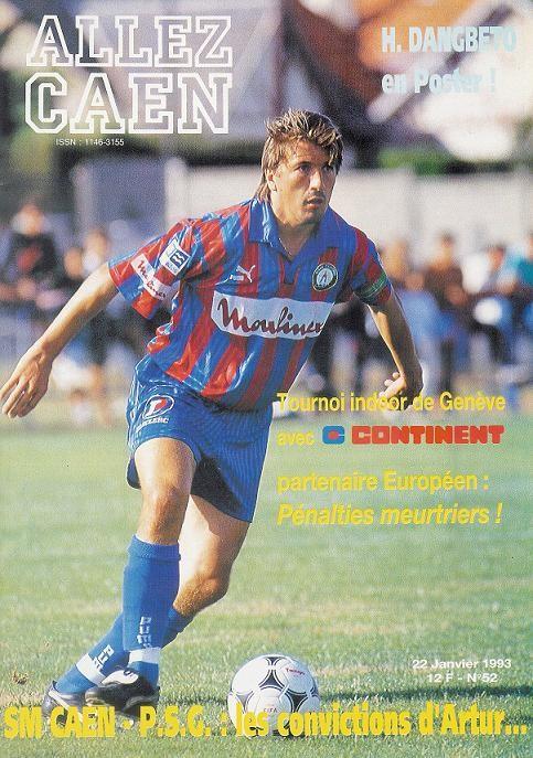 1993-01-22  Caen-PSG (22ème D1,  Allez Caen N° 52)