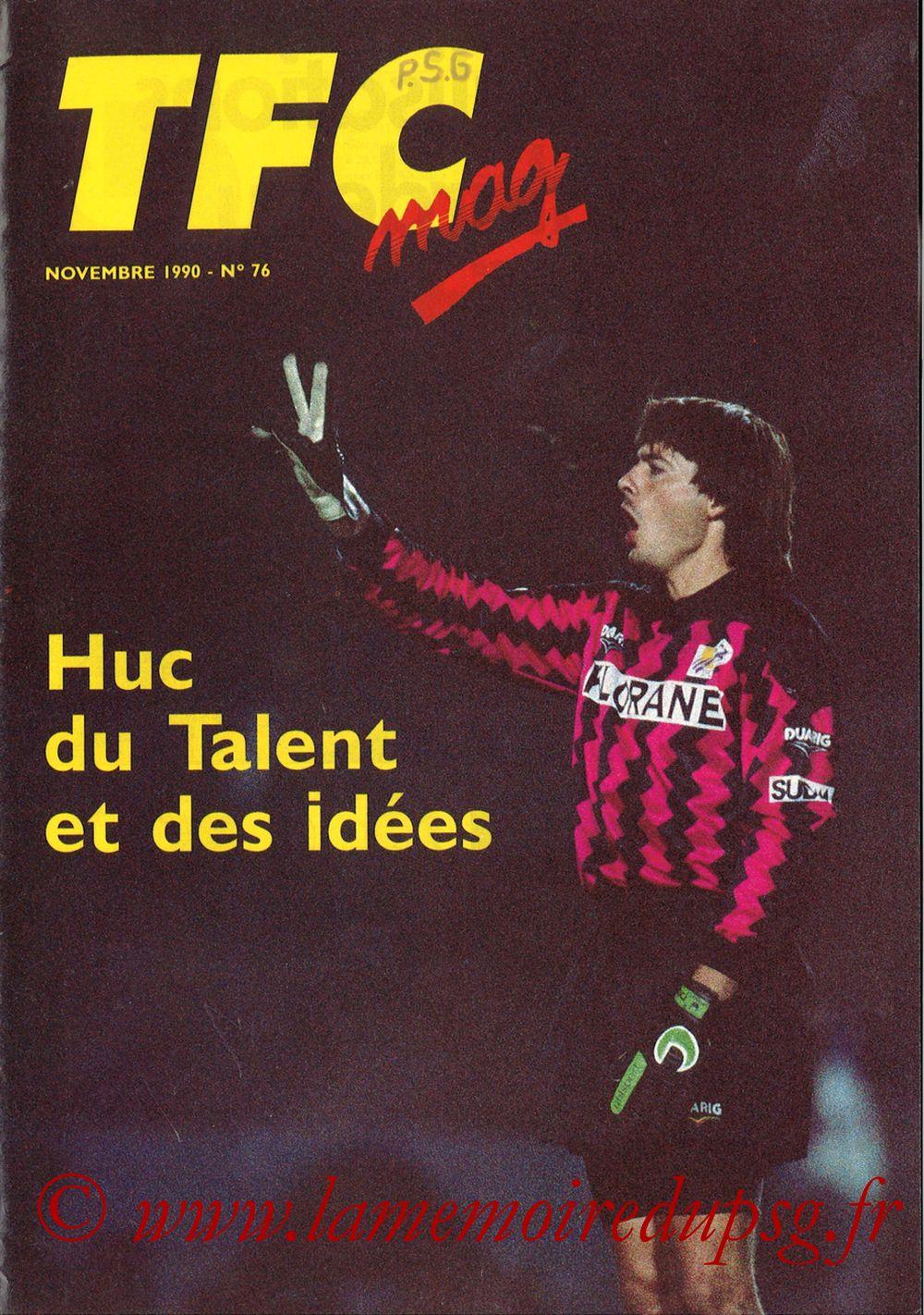 1990-11-10  Toulouse-PSG (16ème D1, TFC Mag N°76)