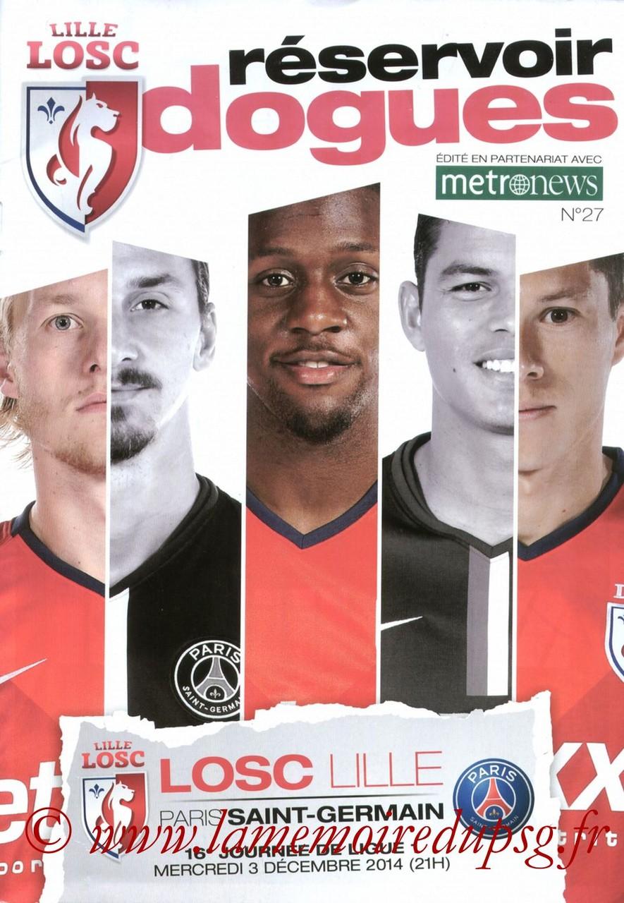 2014-12-03  Lille-PSG (16ème L1, Reservoir dogues N° 27)
