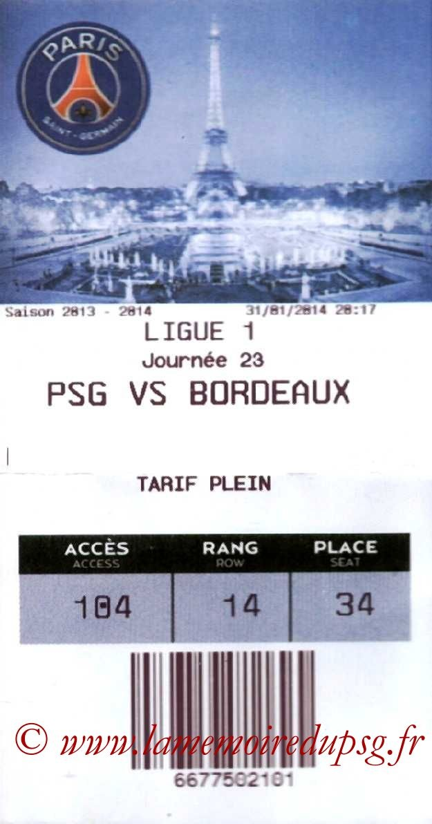 2014-01-31  PSG-Bordeaux (23ème L1, E-ticket)