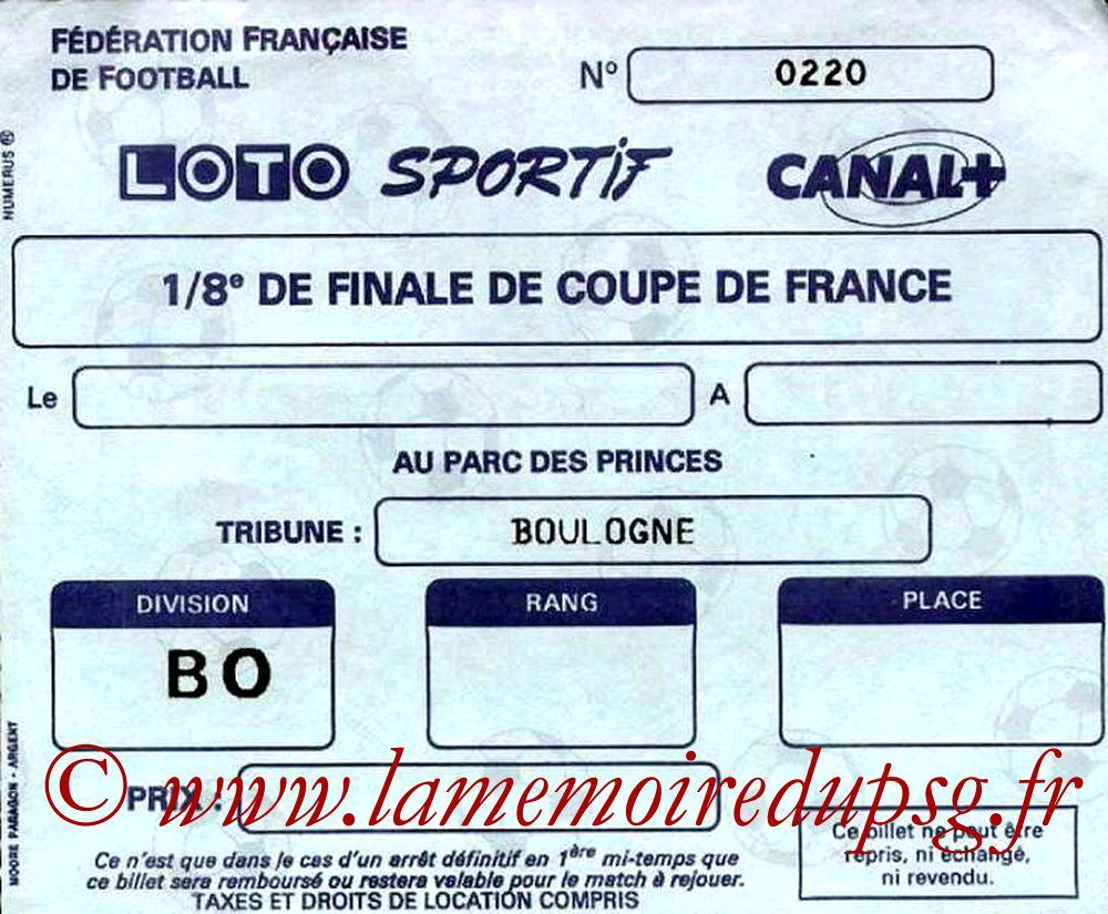 1989-04-08  PSG-Orleans (8ème Finale Aller CF, sans nom)