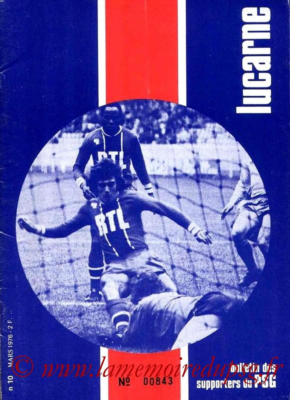 1976-03-07  PSG-Lens  (16ème Finale Retour CF, Lucarne N°10)
