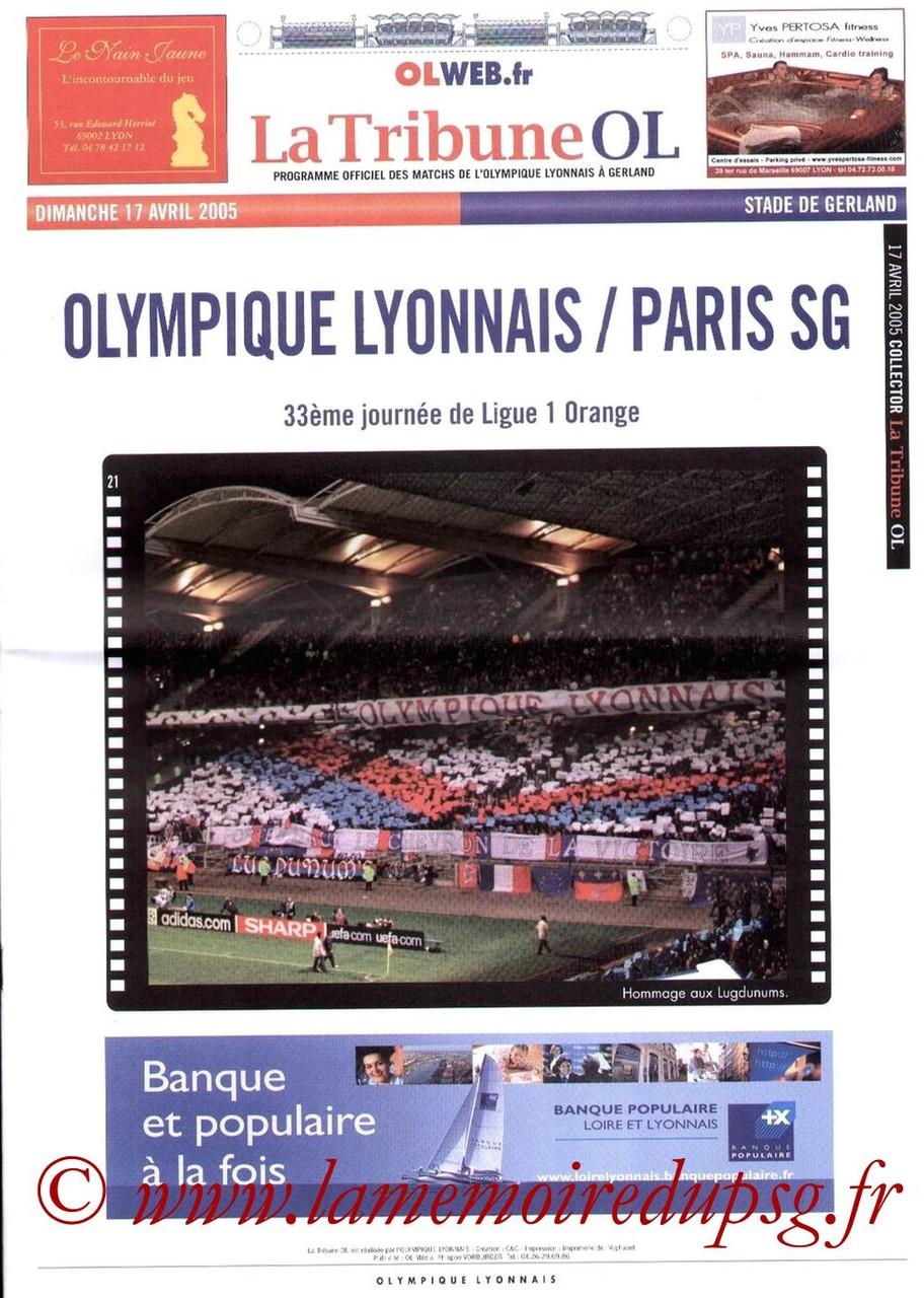 2005-04-17  Lyon-PSG (33ème L1, La Tribune OL)