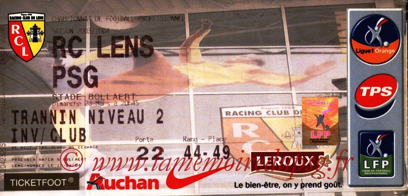 2004-03-28   Lens-PSG (30ème L1, bis)