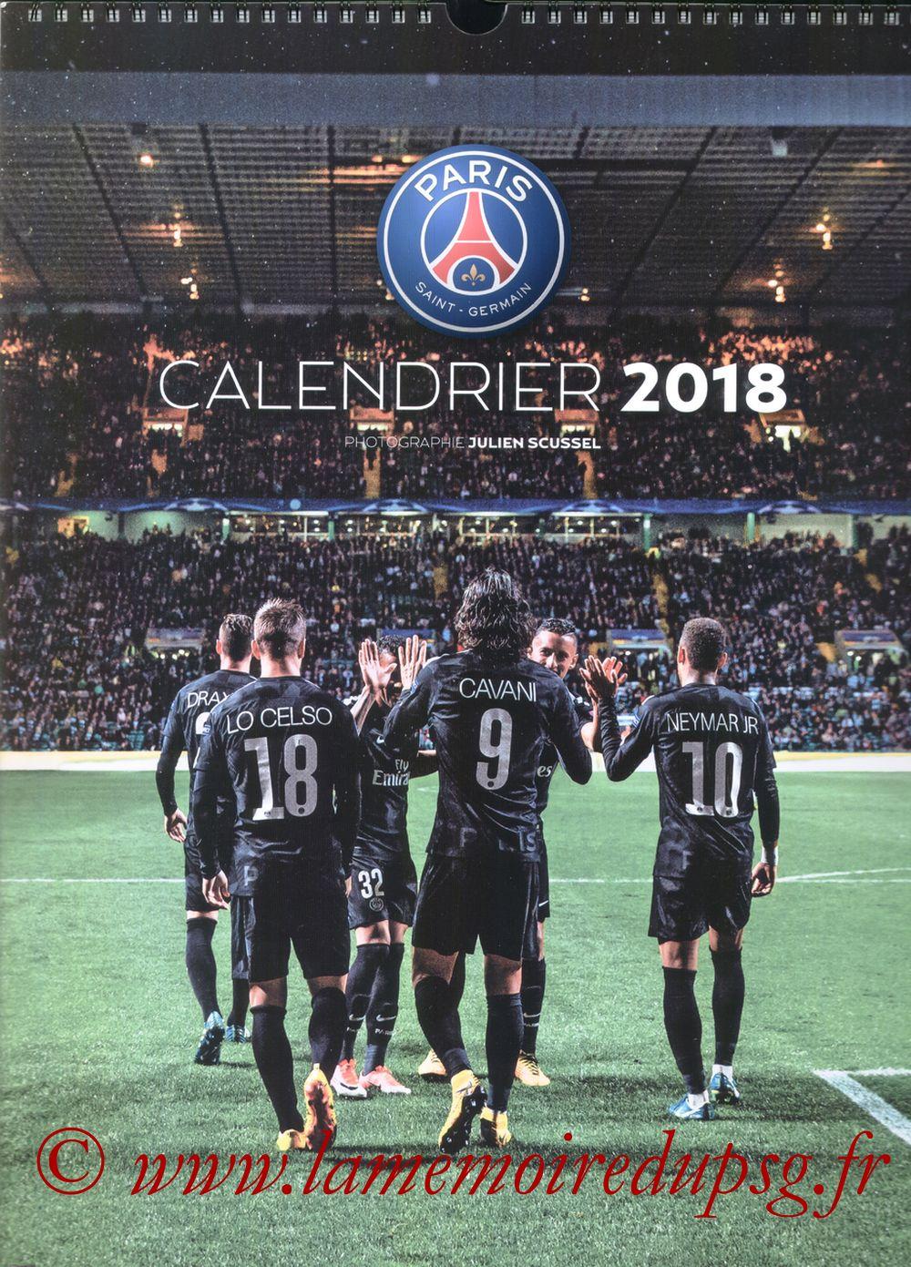 Calendrier PSG 2018 - Couverture