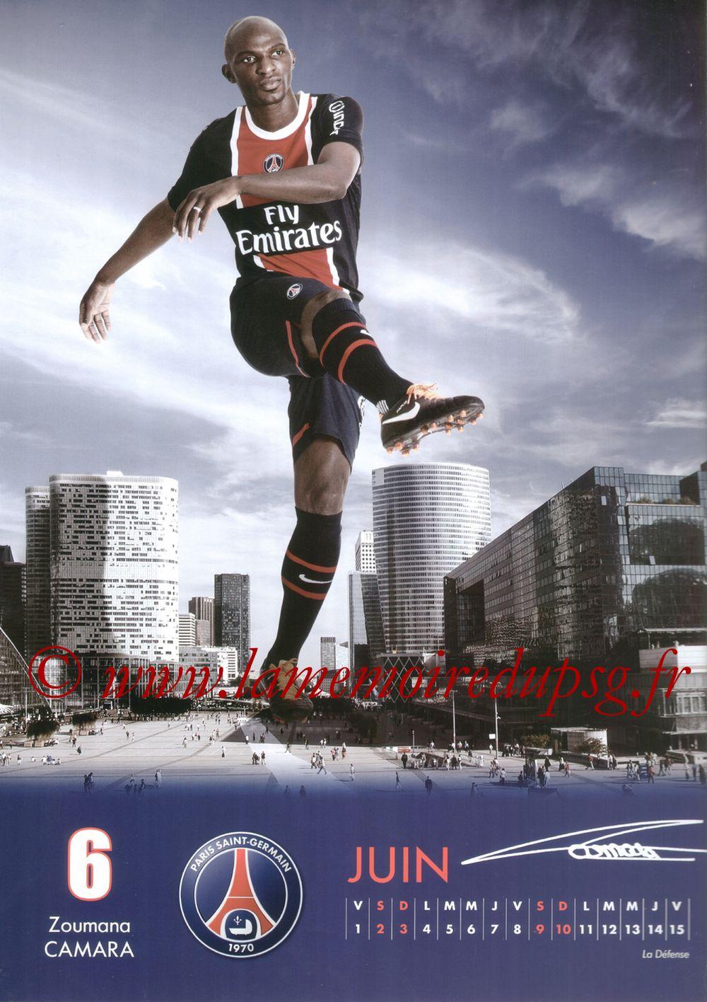 Calendrier PSG 2012 - Page 11 - Zoumana CAMARA