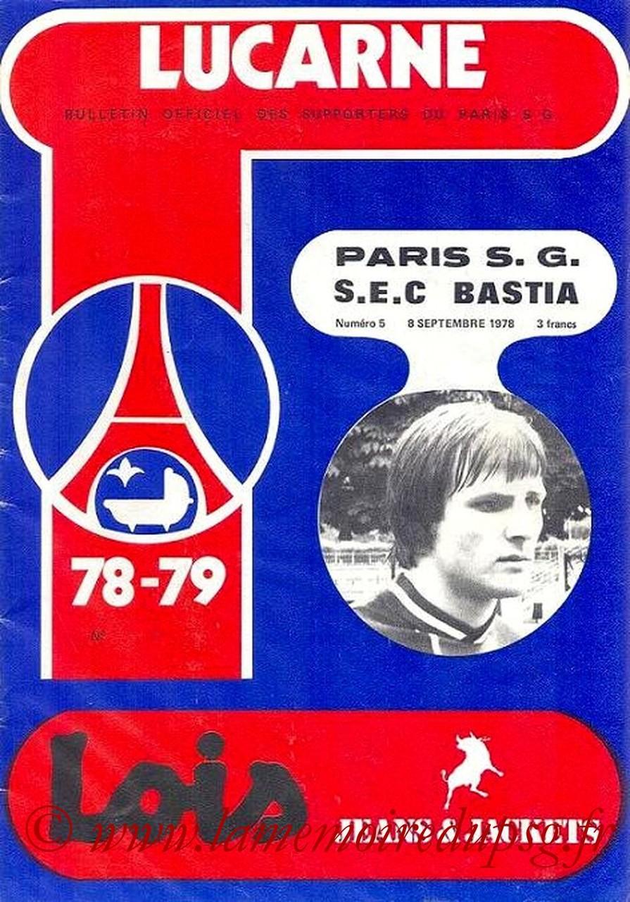 1978-09-08  PSG-Bastia (10ème D1, Lucarne N°5)