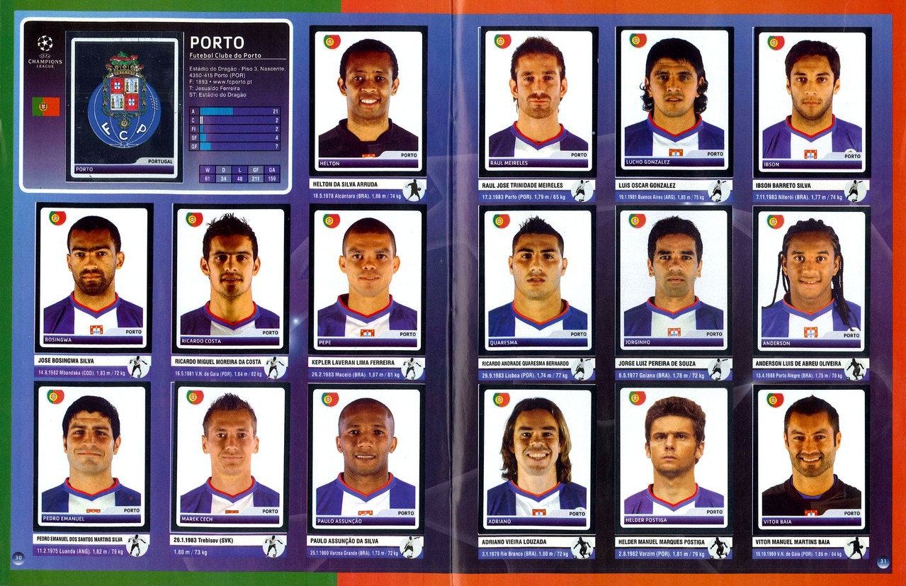 2006-07 - Panini Champions League - Pages 30 et 31 - FC Porto