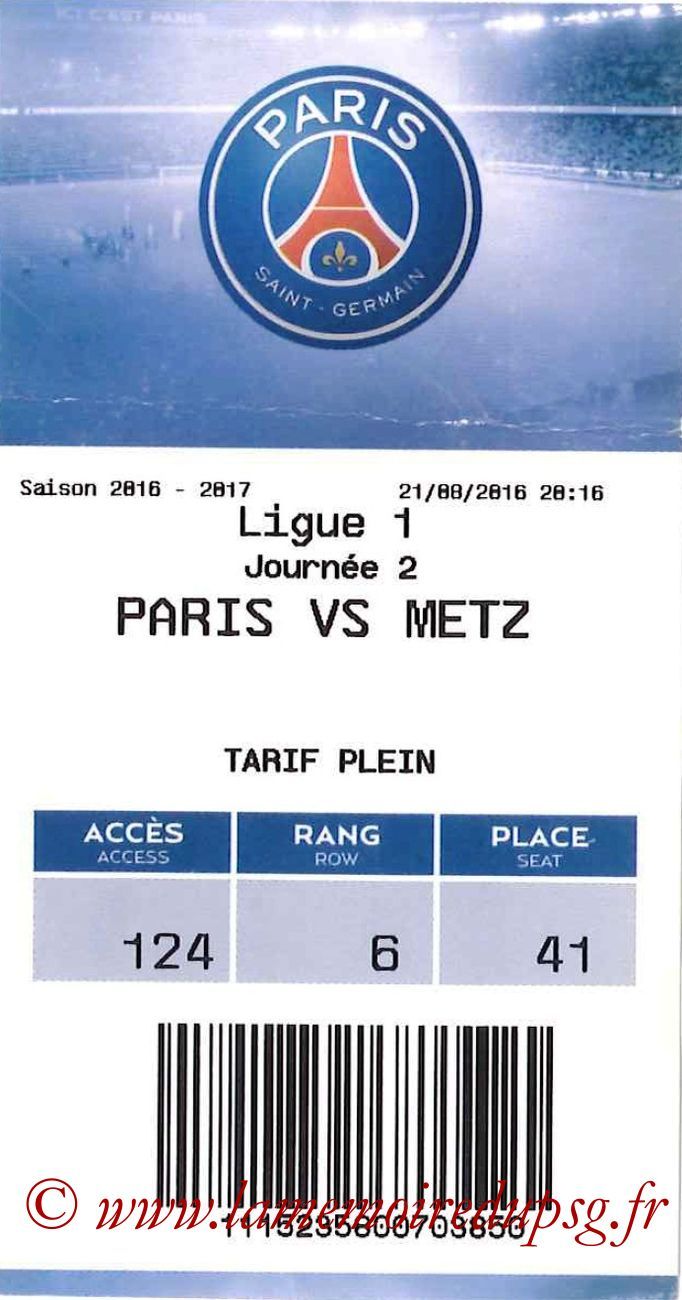 2016-08-22  PSG-Metz (2ème L1, E-ticket)