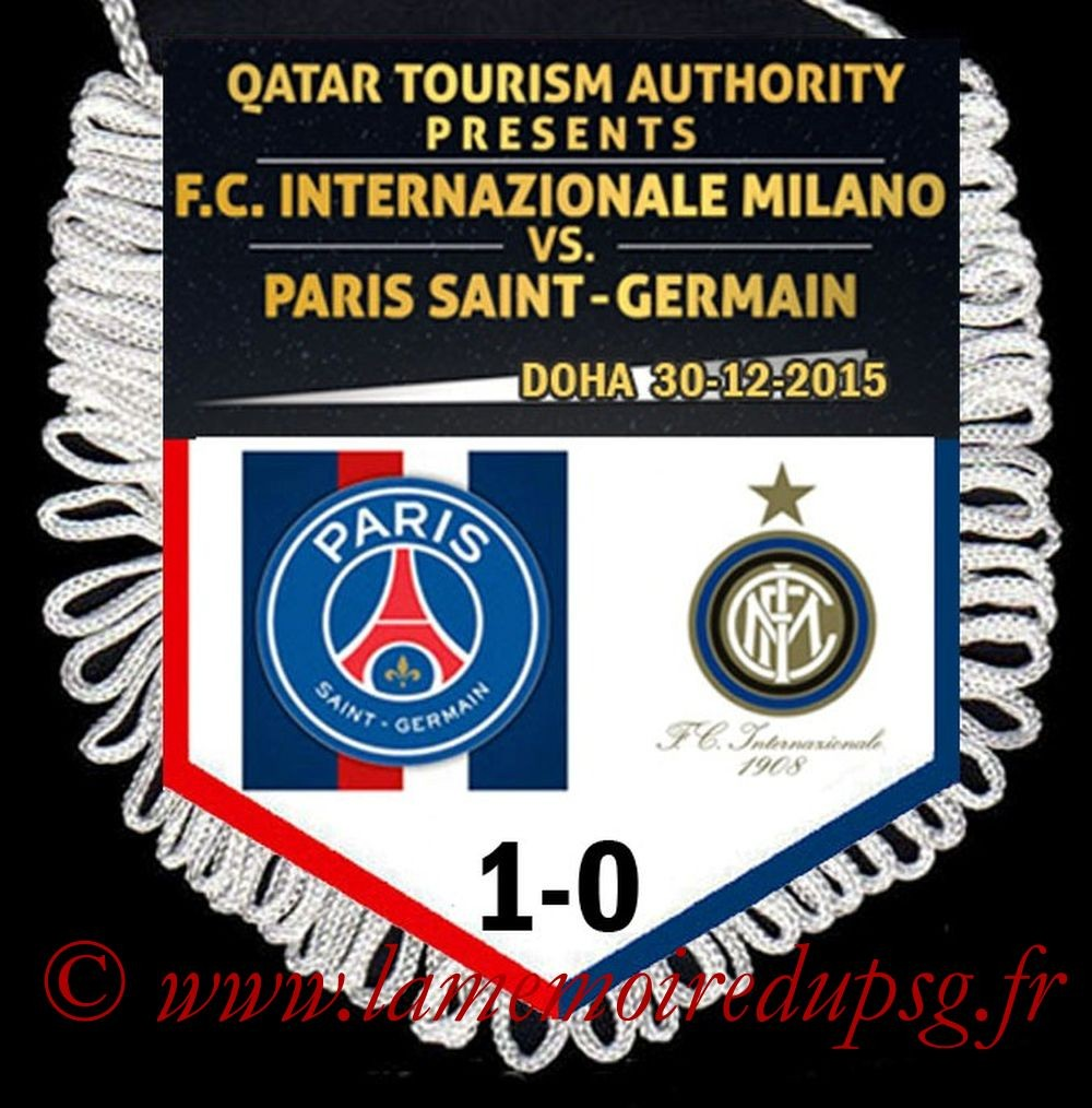 2015-12-30  Inter-PSG (Amical à Doha)