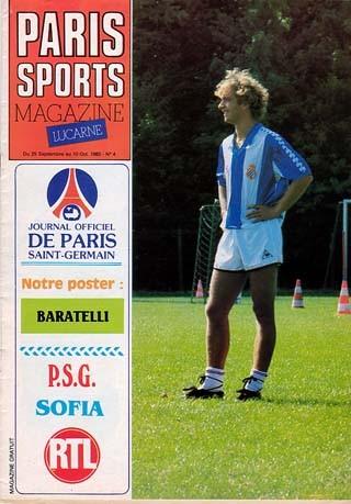1982-09-28  PSG-Lokomotiv Sofia (16ème Finale Retour C2, Paris Sports Magazine N°4)