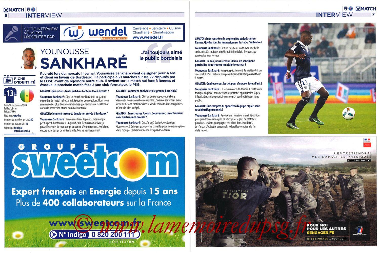2017-02-10  Bordeaux-PSG (25ème L1, Girondins Match N°35) - Pages 06 et 07