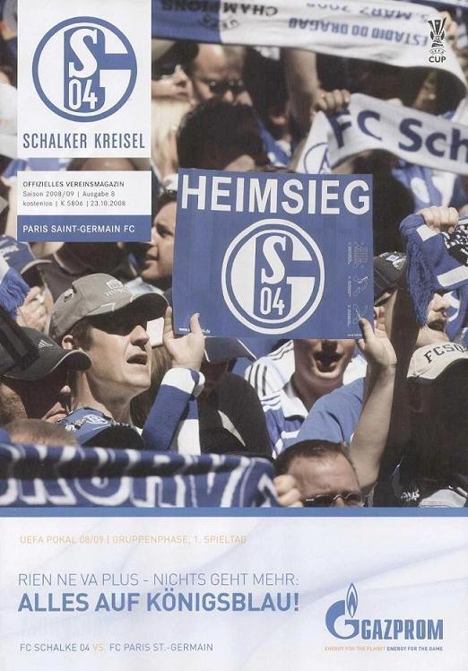 2008-10-23  Schalke 04-PSG (1ère Journée Poule UEFA,Officiel)