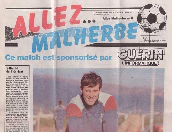 1988-12-17  Caen-PSG (24ème D1, Allez Malherbe N°8)
