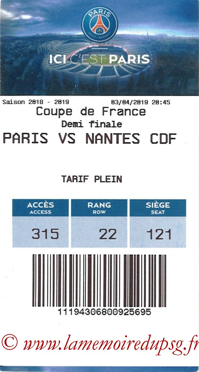 2019-04-03  PSG-Nantes (Demi CF, E-ticket)