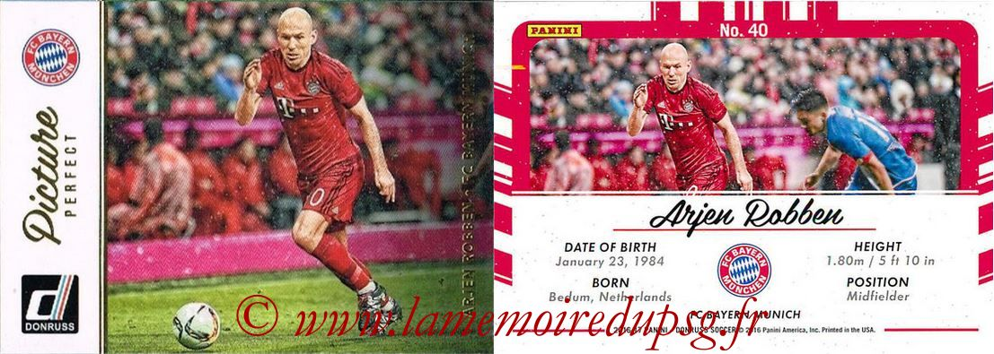 2016 - Panini Donruss Cards - N° PP40 - Arjen ROBBEN (FC Bayen Munich) (Picture Perfect)