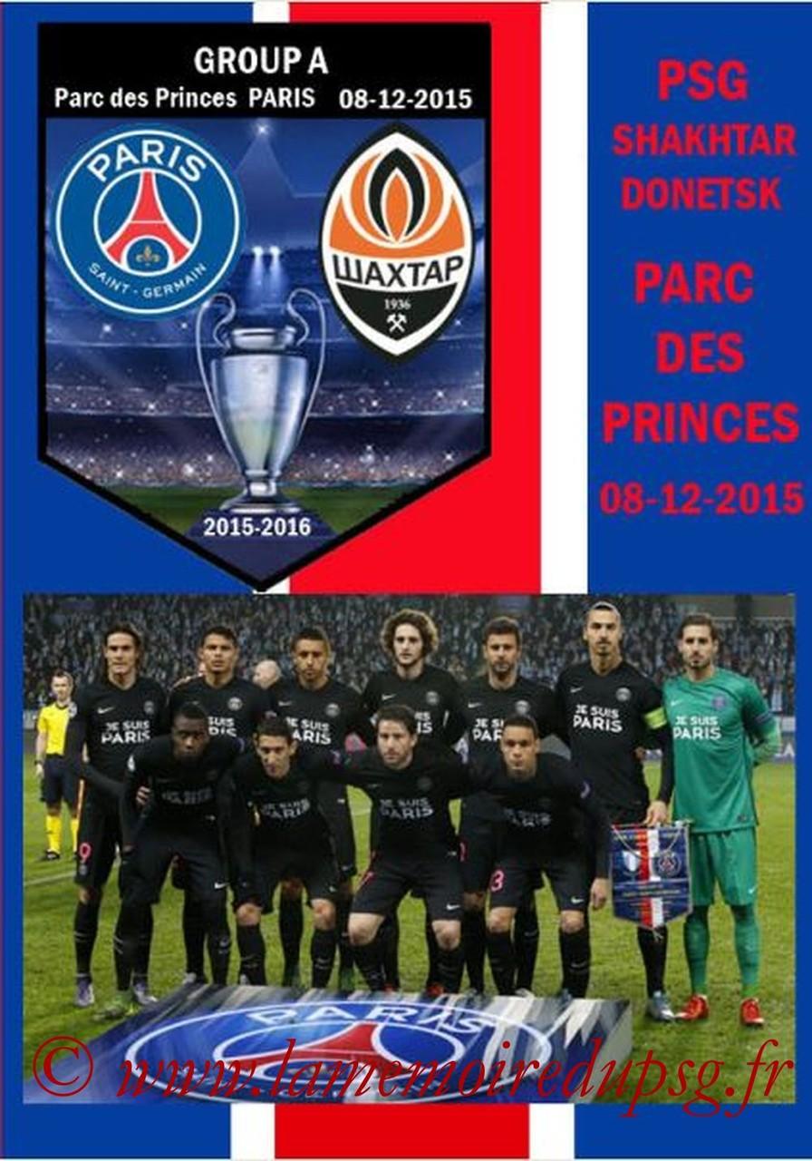 2015-12-08  PSG-Shakhtar Donetsk (6ème C1, Programme pirate)