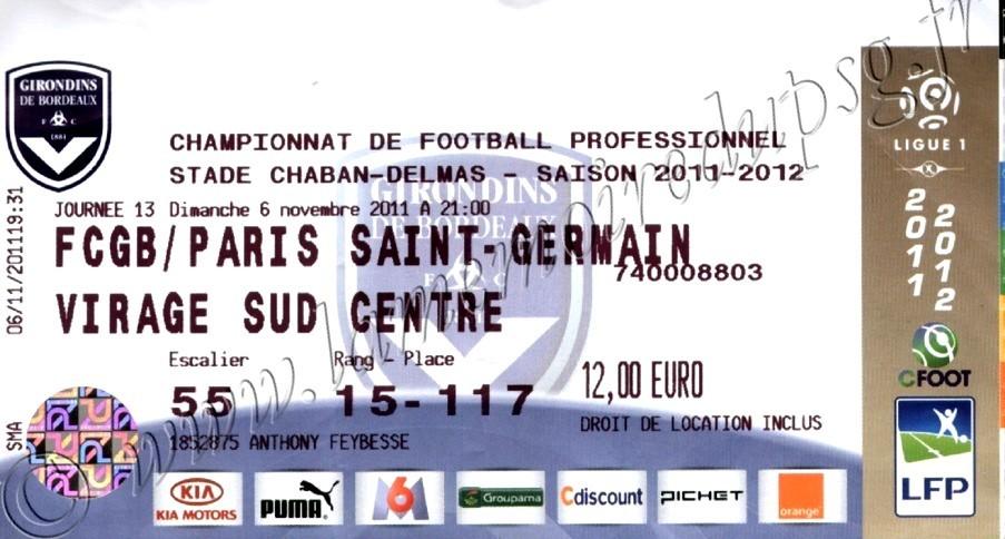 2011-11-06  Bordeaux-PSG (13ème L1)