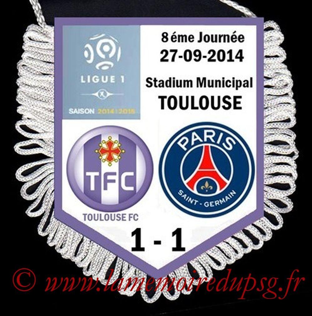 2014-09-27  Toulouse-PSG (8ème L1)