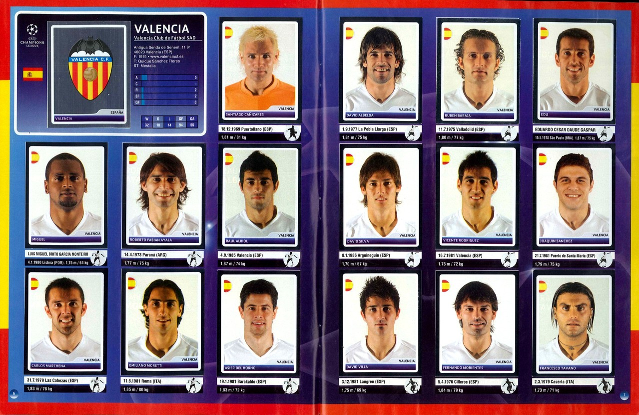 2006-07 - Panini Champions League - Pages 06 et 07 - FC Valence