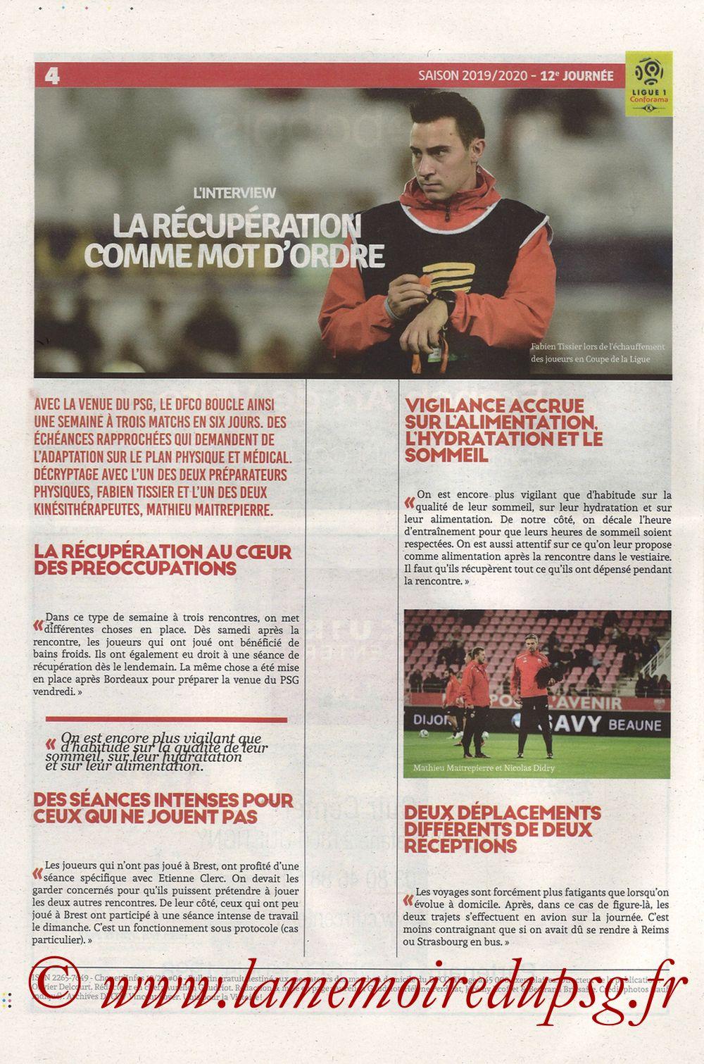 2019-11-01  Dijon-PSG (12ème L1, Chouett Infos) - Page 04