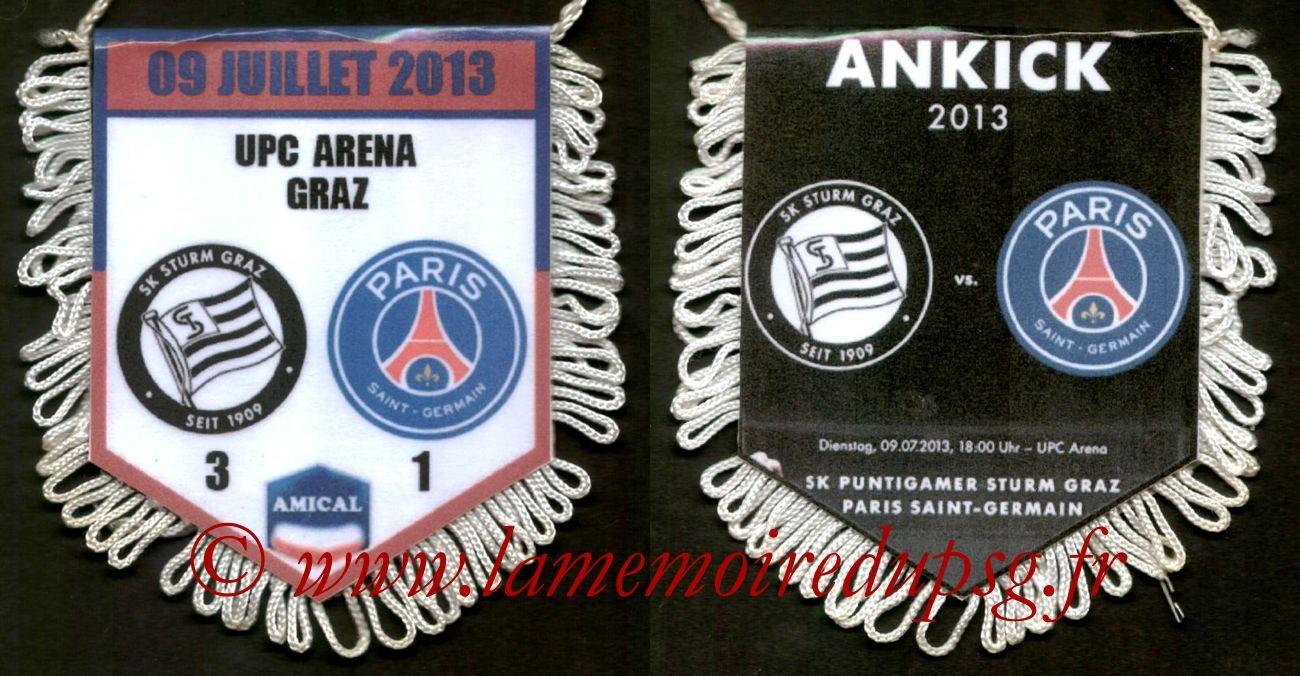 2013-07-09  Sturm Graz-PSG (Amical à Graz)